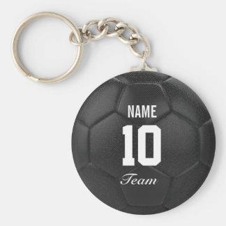 Porte-clés Nom personnalisé par ballon de football d'équipe