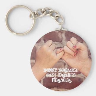 Porte-clés Nom rosâtre de cadeaux de BFFs de meilleurs amis