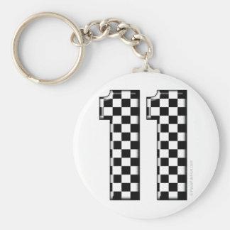 Porte-clés nombre checkered de l'emballage 11 automatique