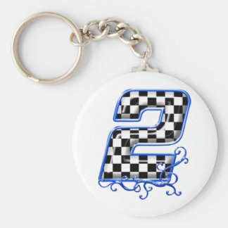 Porte-clés nombre de emballage bleu 2