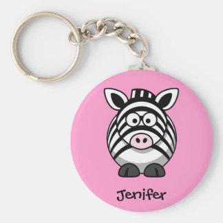 Porte-clés Nommé personnalisé - porte - clé mignon de zèbre