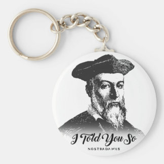 Porte-clés Nostradamus : Je vous ai dits ainsi