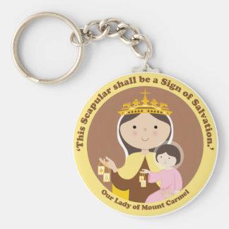 Porte-clés Notre Madame du mont Carmel