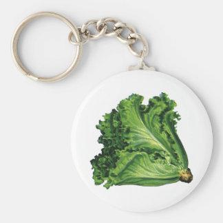 Porte-clés Nourritures vintages, légumes verts de laitue de