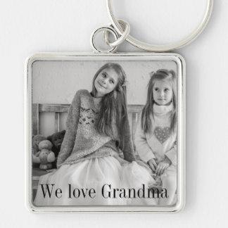 Porte-clés Nous aimons le porte - clé de photo de grand-maman