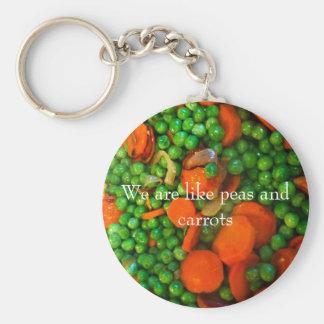 Porte-clés Nous sommes comme des pois et des carottes