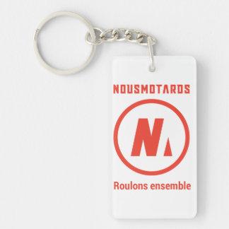 """Porte-clés Nousmotards """"Roulons Ensemble"""""""