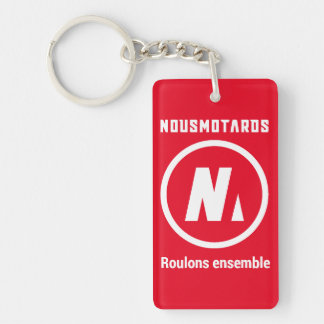 "Porte-clés Nousmotards ""Roulons Ensemble"" Rouge"
