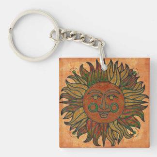 Porte-clés Nouvel âge Sun de récolte grunge
