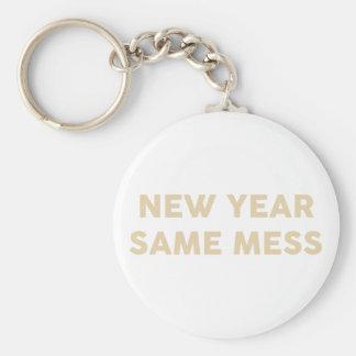Porte-clés Nouvelle année mêmes salissent