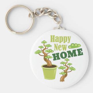 Porte-clés Nouvelle maison heureuse