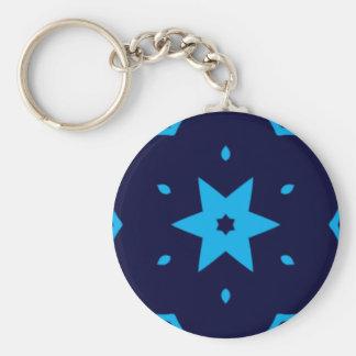 Porte-clés Nuances de porte - clé de kaléidoscope d'étoile