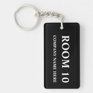 Porte - clés numérotés de chambre d'hôtel | porte-clé  rectangulaire en acrylique une face