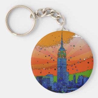 Porte-clés NYC psychédélique : Empire State Building #3