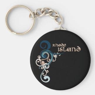 Porte-clés Obscurité bouclée bleue de porte - clé d'Île de