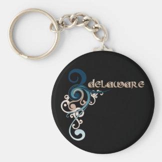 Porte-clés Obscurité bouclée bleue de porte - clé du Delaware