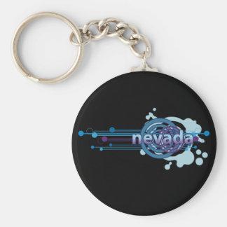 Porte-clés Obscurité graphique bleue de porte - clé du Nevada