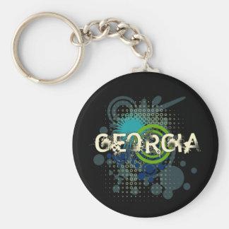 Porte-clés Obscurité tramée grunge moderne de porte - clé de
