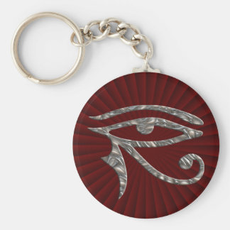 Porte-clés Oeil de Horus - ARGENT