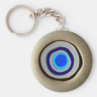 Porte-clés Oeil mauvais grec de base de chaîne principale de