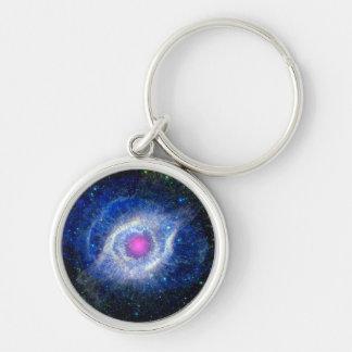 Porte-clés Oeil ultra-violet de nébuleuse d'hélice de photo