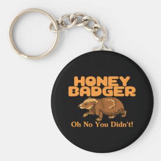 Porte-clés Oh aucun blaireau de miel