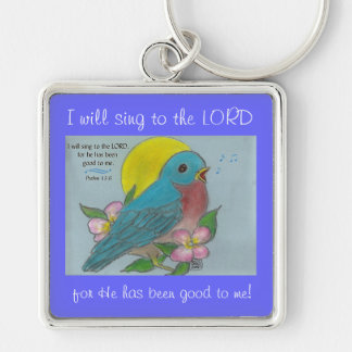 Porte-clés Oiseau bleu de bonheur avec le porte - clé de 13:6