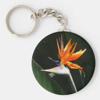 Porte-clés Oiseau de fleur tropicale orange de paradis