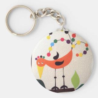 Porte-clés oiseau les couleurs