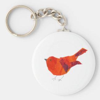 Porte-clés Oiseau rouge mignon