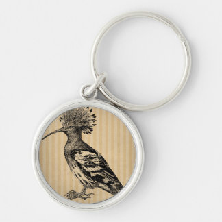 Porte-clés Oiseau vintage de huppe