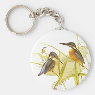 Porte-clés Oiseaux vintages de martin-pêcheur de porte - clé