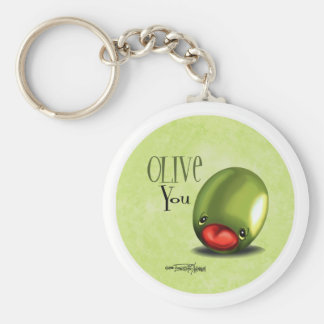 Porte-clés Olive verte vous - je t'aime porte - clé