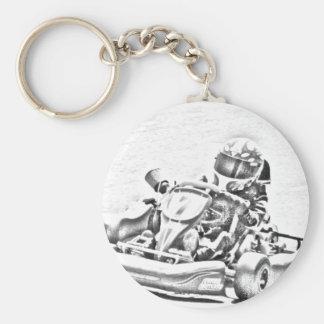 Porte-clés Ombrage de emballage du kart B/W