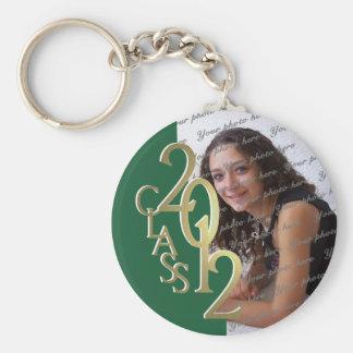 Porte-clés Or 2012 et vert de souvenir d'obtention du diplôme