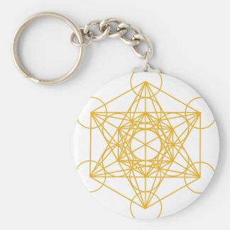 Porte-clés Or de cube en Metatron