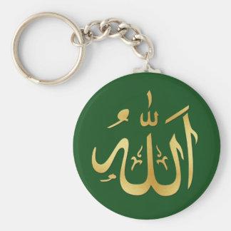 Porte-clés Or et porte - clé vert d'Allah