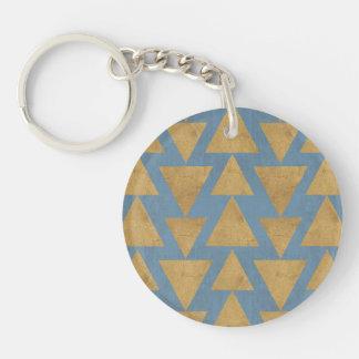 Porte-clés Or extérieur d'étape | de Geo et motif bleu