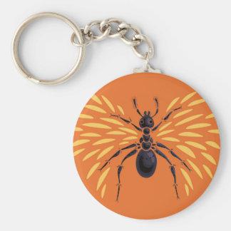 Porte-clés Orange à ailes d'amant d'insecte de fourmi