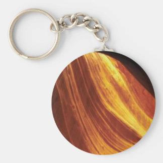 Porte-clés orange et écoulement rouge