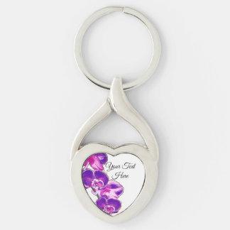 Porte-clés Orchidées personnalisées