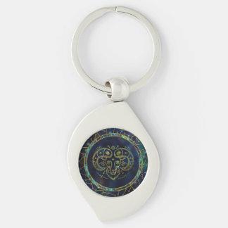 Porte-clés Ormeau d'or de zodiaque de Bélier sur la