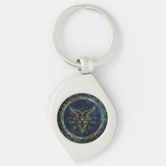 Porte-clés Ormeau d'or de zodiaque de Capricorne sur la