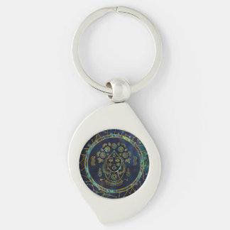 Porte-clés Ormeau d'or de zodiaque de Vierge sur la