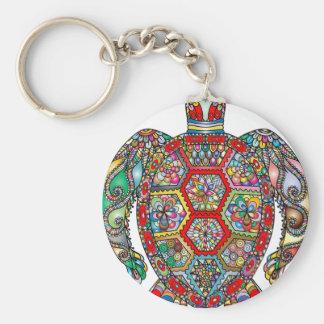 Porte-clés Ornamental décoratif de fleurs florales de tortue