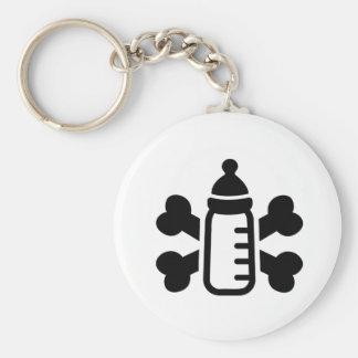 Porte-clés Os croisés par biberon
