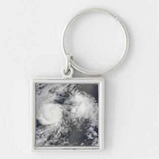 Porte-clés Ouragan Felicia et tempête Enrique à l'est de baie