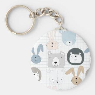 Porte-clés Ours, lion et lapin animaux mignons de nounours de