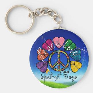 Porte-clés Paix, amour et porte - clé de sacs de ceinture de