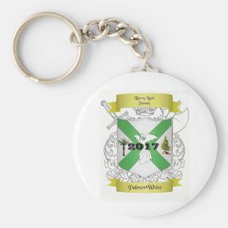 Porte-clés Palmer/porte - clé blanc de crête de famille